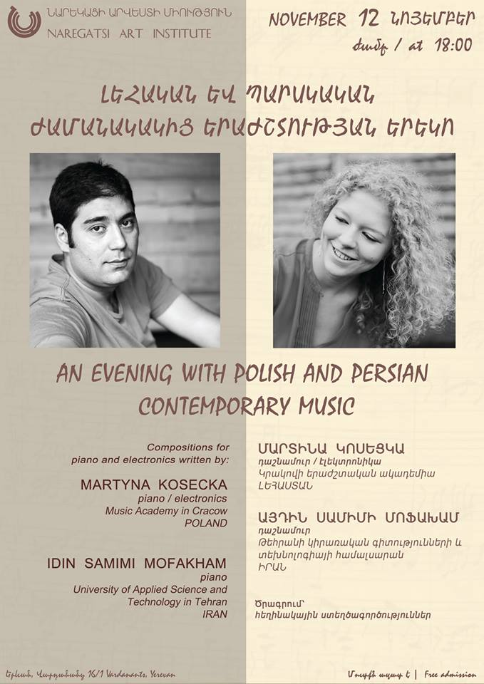 An Evening of Polish and Persian contemporary music at Yerevan, Armenia